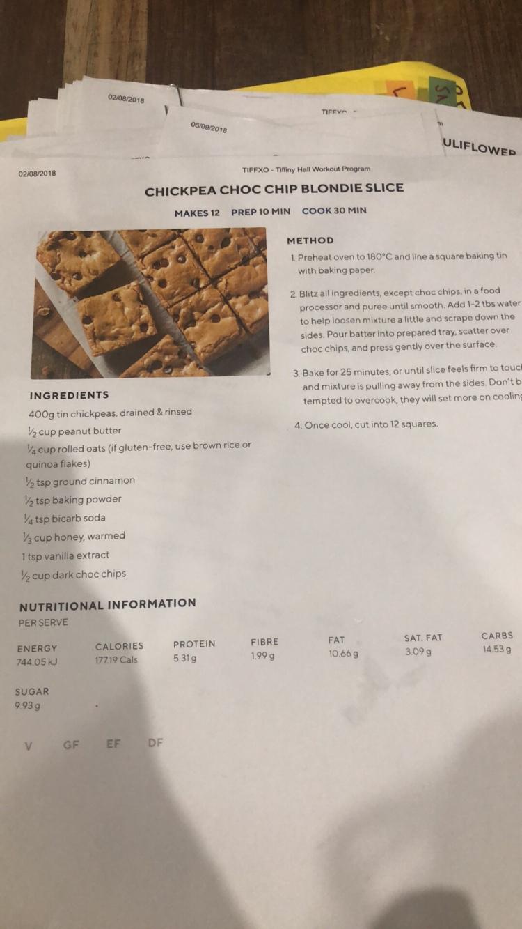 Recipe - sweets